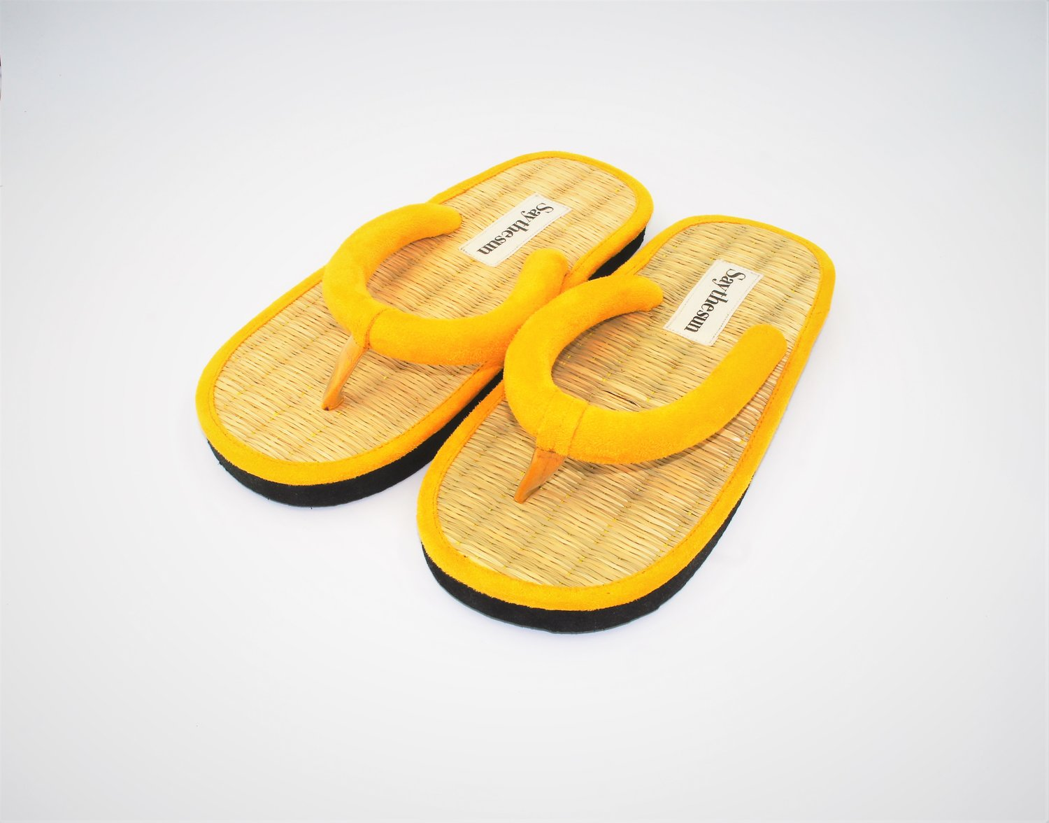 852d24b60454 MELLOW YELLOW VEGAN SUEDE FLIP FLOP — Say the Sun