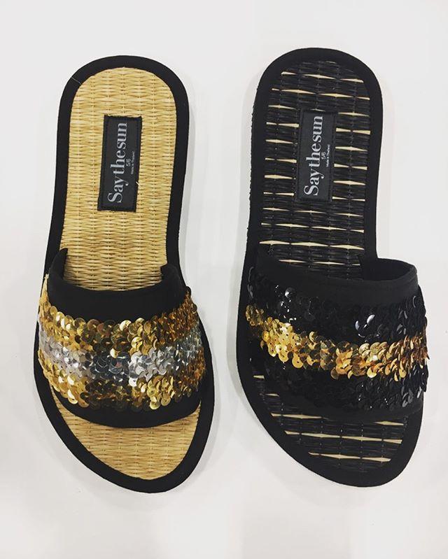 FAF slider coming soon ⭐️ @saythesunca #fancyasfuck #discosliders #sequins #gold #shinebrightlikethesun
