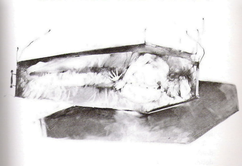 "Original ""Cold As Clay"" Illustration by Stephen Gammell"