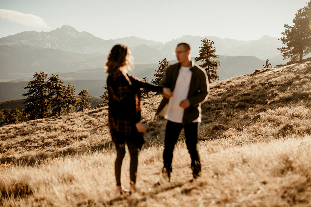 Rocky Mountain National Park Wedding Elopement Photographer Adventure Couples Portraits Best Estes Park Colorado Wyoming Mountain Liz Osban Photographer Engagement