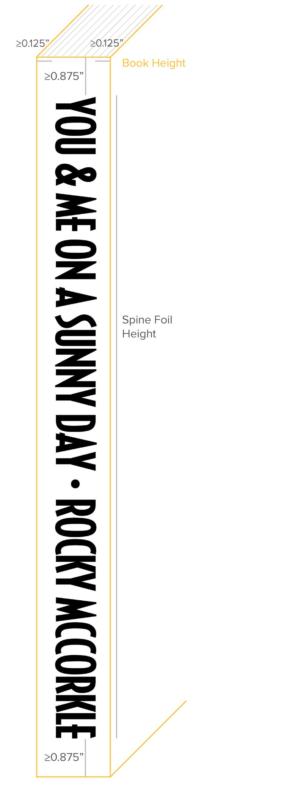 Sample Spine Foil Stamp
