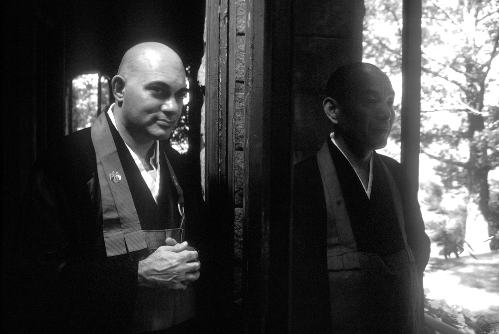 "Bernie ""Tetsugen"" Glassman Sensei  with his teacher Maezumi Roshi at The Zen Center of New York in Riverdale, 1980"