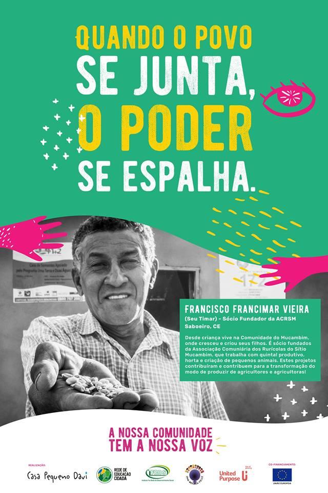 Poster - Quando o povo se junta, o poder se espalha (when the people gather, power spreads) brazil