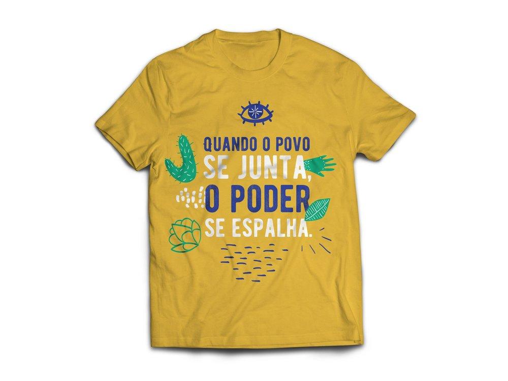 Quando o povo se junta, o poder se espalha (when the people gather, power spreads) tshirt brazil