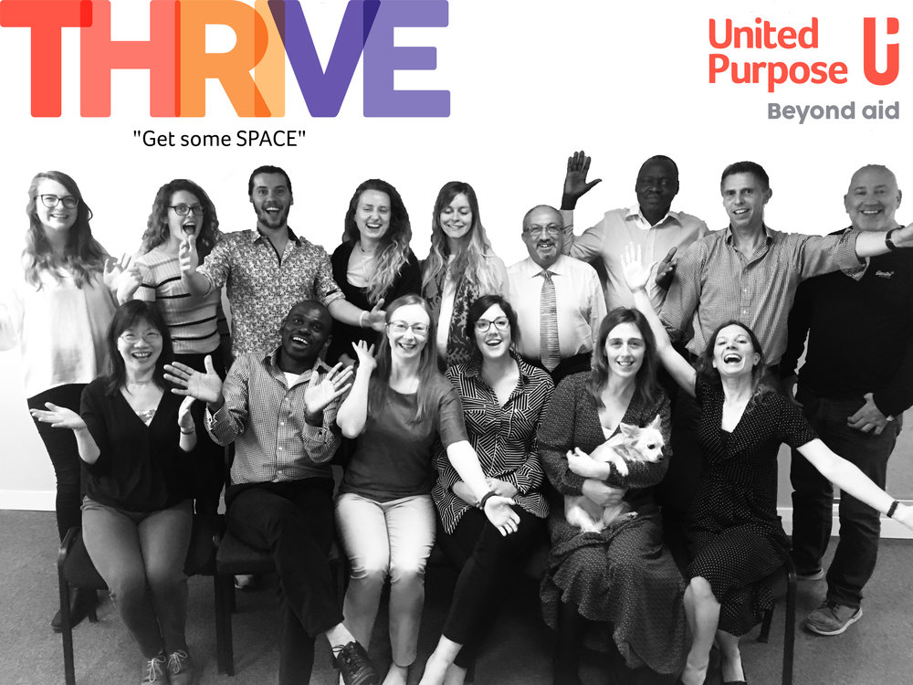 United Purpose staff Get Some SPACE Thrive Programme