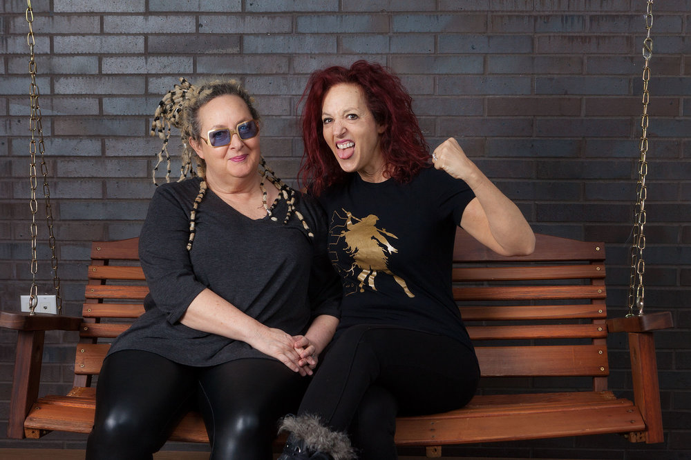Elizabeth Ziff (right), with her sister Amy, in New York City.  They are in the a band BETTY together, and also run a non profit The Betty Effect, using music and performance for social progress. Their programs are especially geared toward LGBTQ people and women and girls.