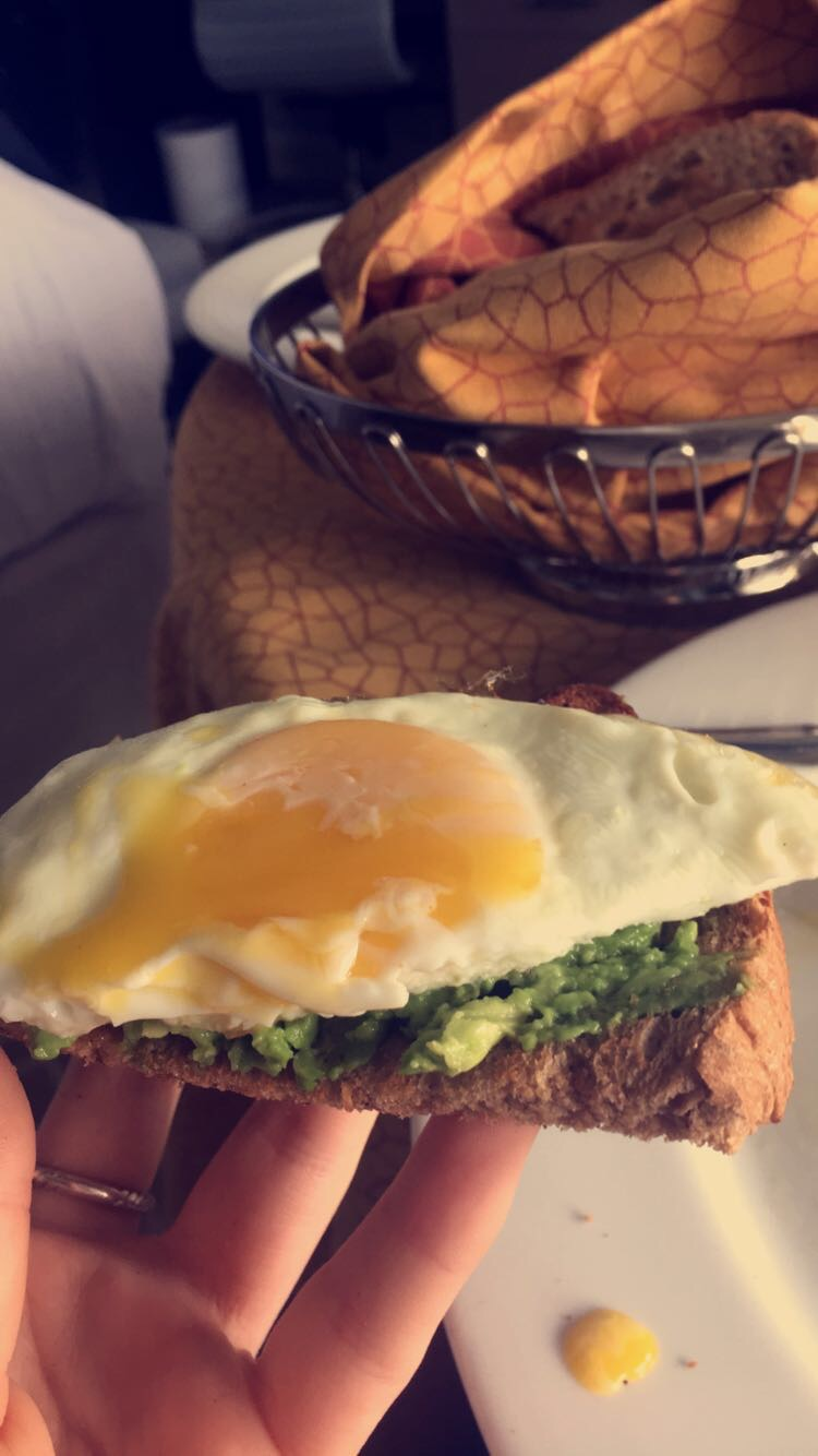 Sunny side up egg & whole wheat toast with avocado
