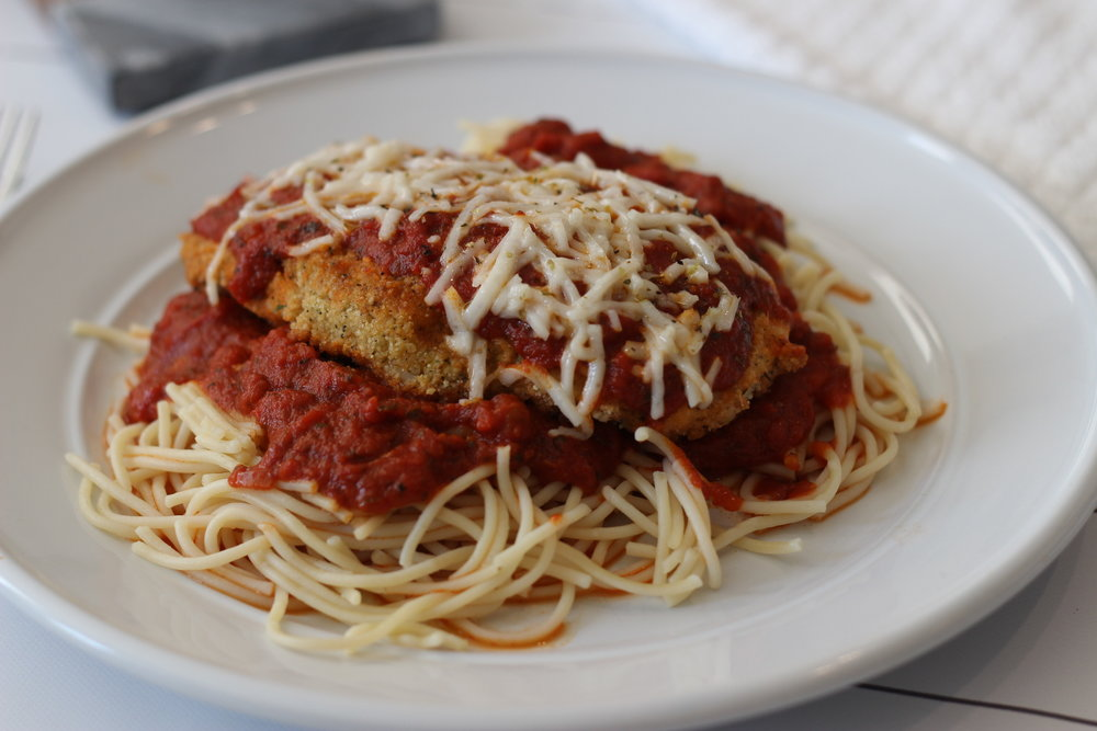 Gluten and dairy free chicken parm recipe by Au Courant Life