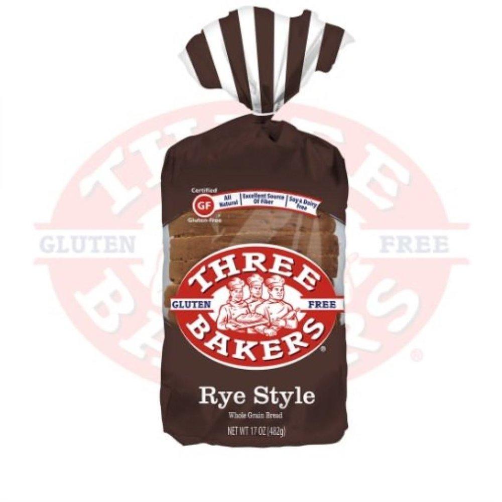 1. Three Bakers Rye Style Gluten Free Bread