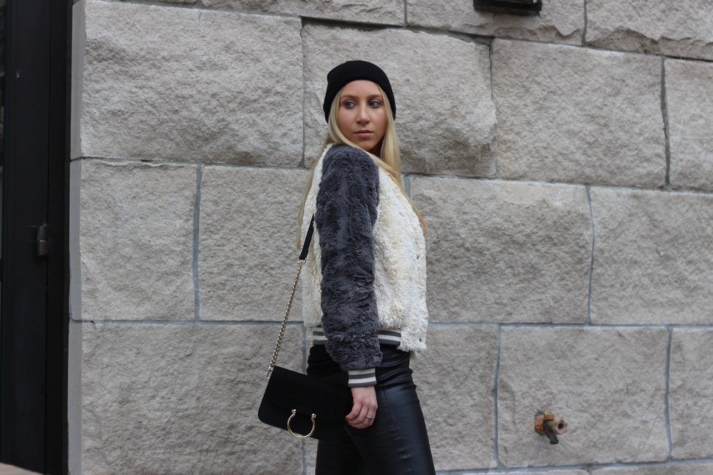 Cozy winter outfit by Au Courant Life