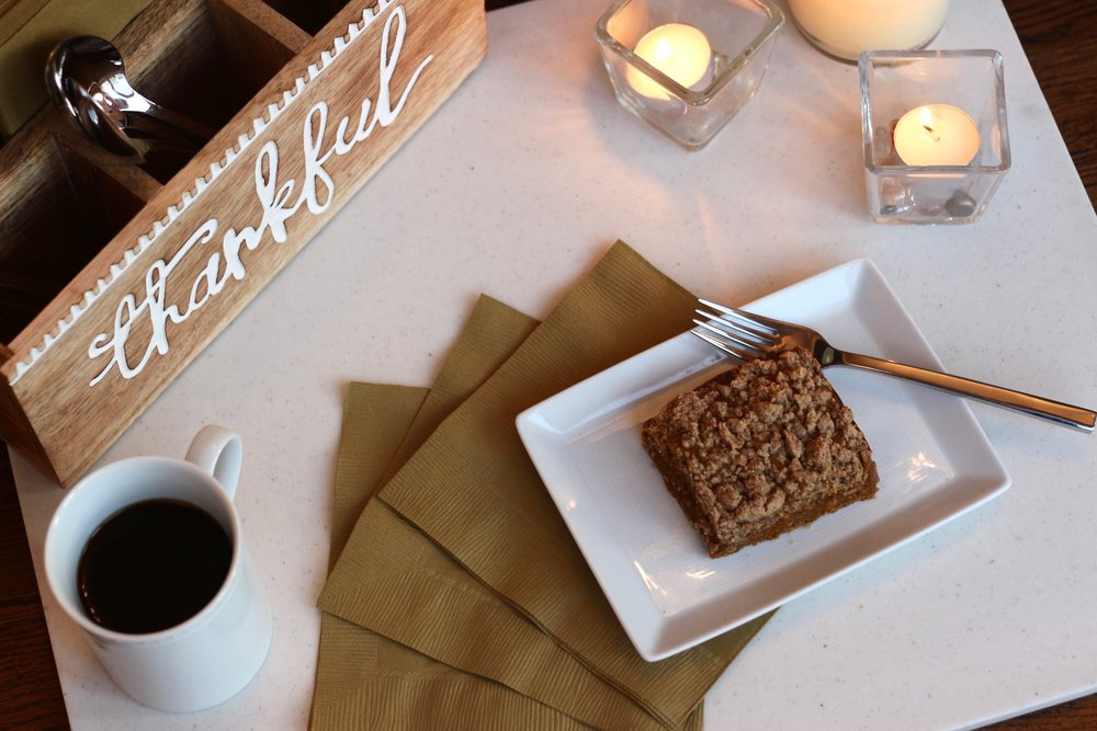 Gluten-free dairy-free pumpkin coffee cake recipe by Au Courant Life