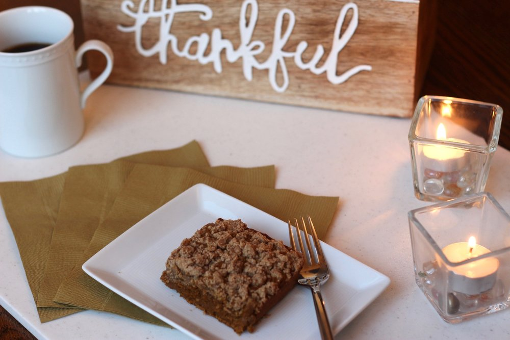 Gluten-free dairy-free pumpkin coffee cake by Au Courant Life