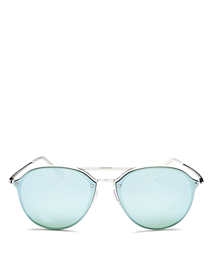Ray-Ban Mirrored Brow Bar Rimless Sunglasses