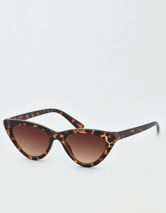 Small Cat Eye Sunglasses, Brown