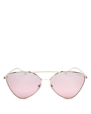 Prada Mirrored Brow Bar Cat Eye Sunglasses, 60mm