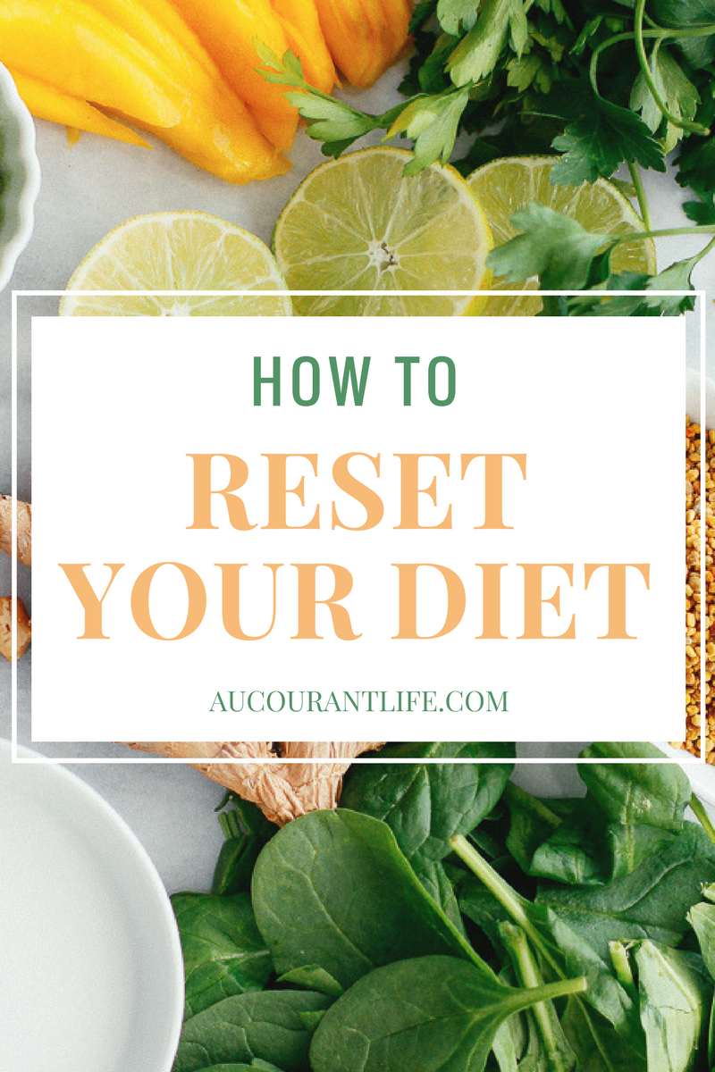 How to reset your diet by Au Courant Life