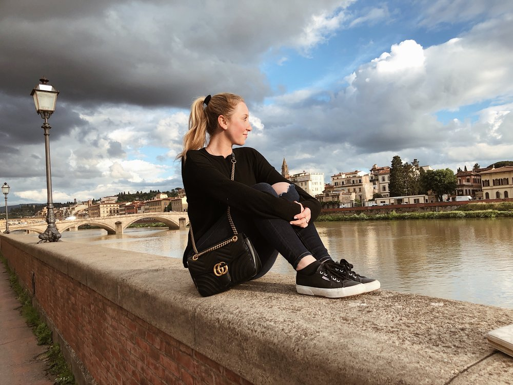Au courant life studying abroad in Florence Italy at Ponte Vecchio