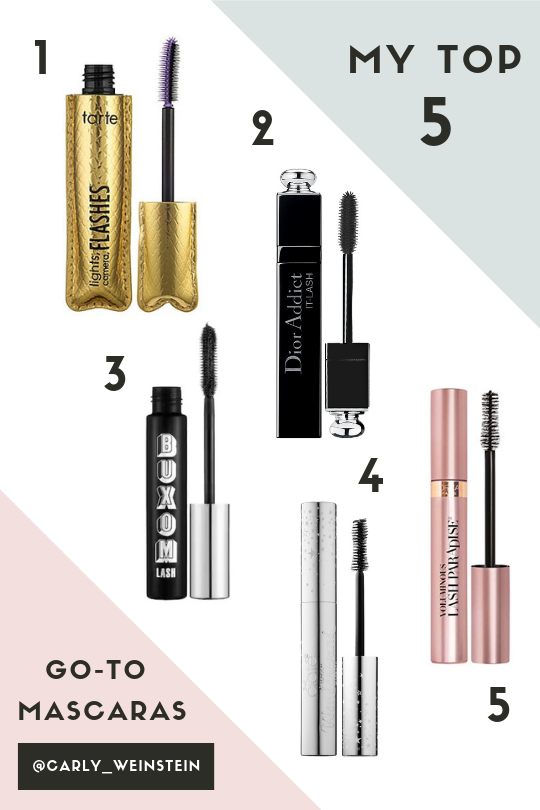 top 5 mascara brands by carly weinstein of au courant life