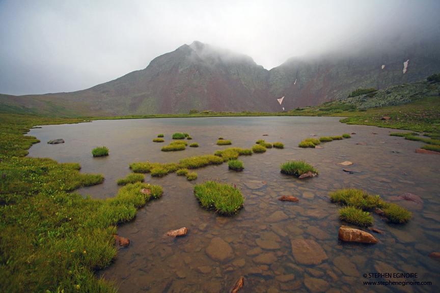 Tarns near Mount Nebo.