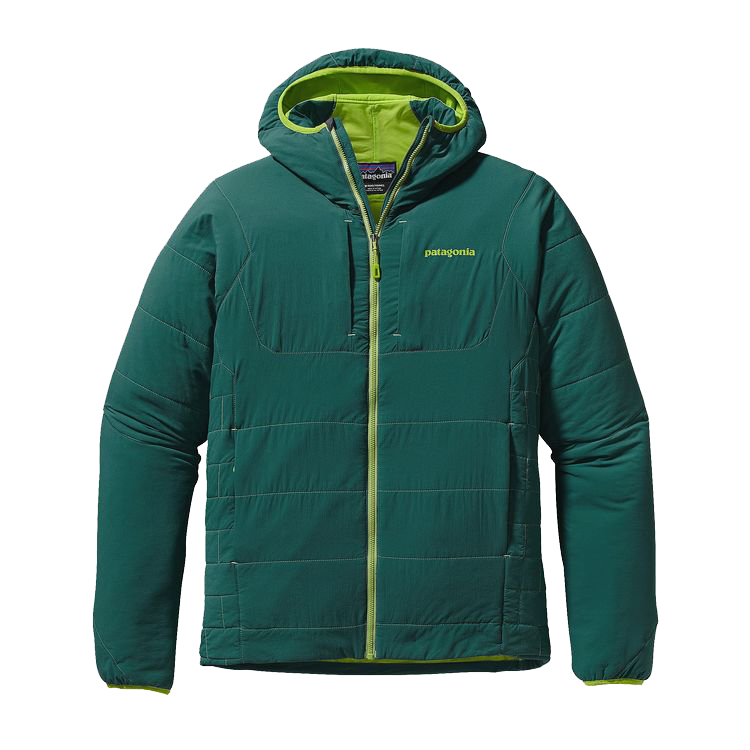 The Nano-Air® Hoody sets a new standard for technical insulation, merging the comfort and breathability of open fleece with the protection and warmth of a puffy. Its supremely stretchy and breathable fabric package combines a plain-weave liner, warm-when-wet FullRange™ insulation and a lightweight yet durable, weather-shedding 100% nylon ripstop shell with a DWR (durable water repellent) finish. The hoody has an incredibly soft, supple feel and full mechanical stretch that allow for a close, athletic fit over baselayers and an uninhibited range of motion.