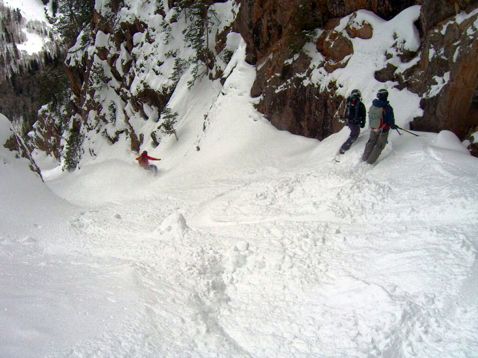 Couloir hunting.