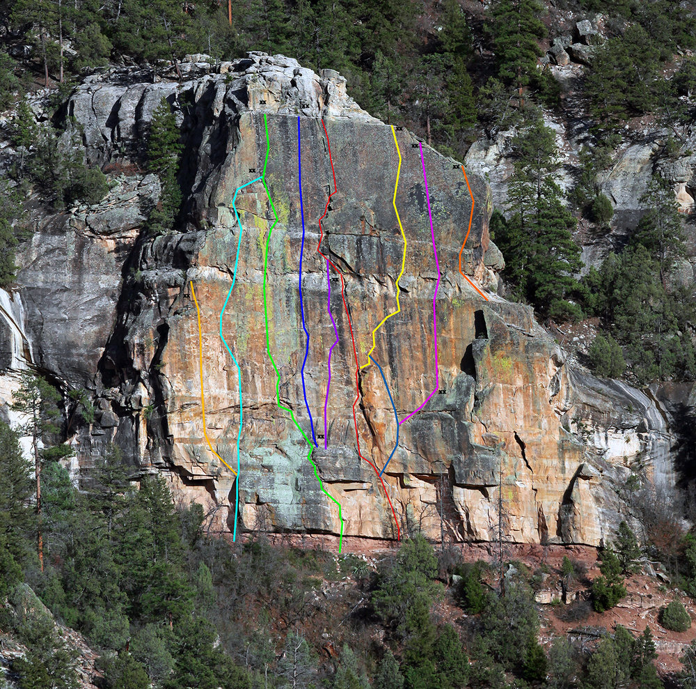 The Watch Crystal at East Animas.                                                                                    Topo by Steve Eginoire