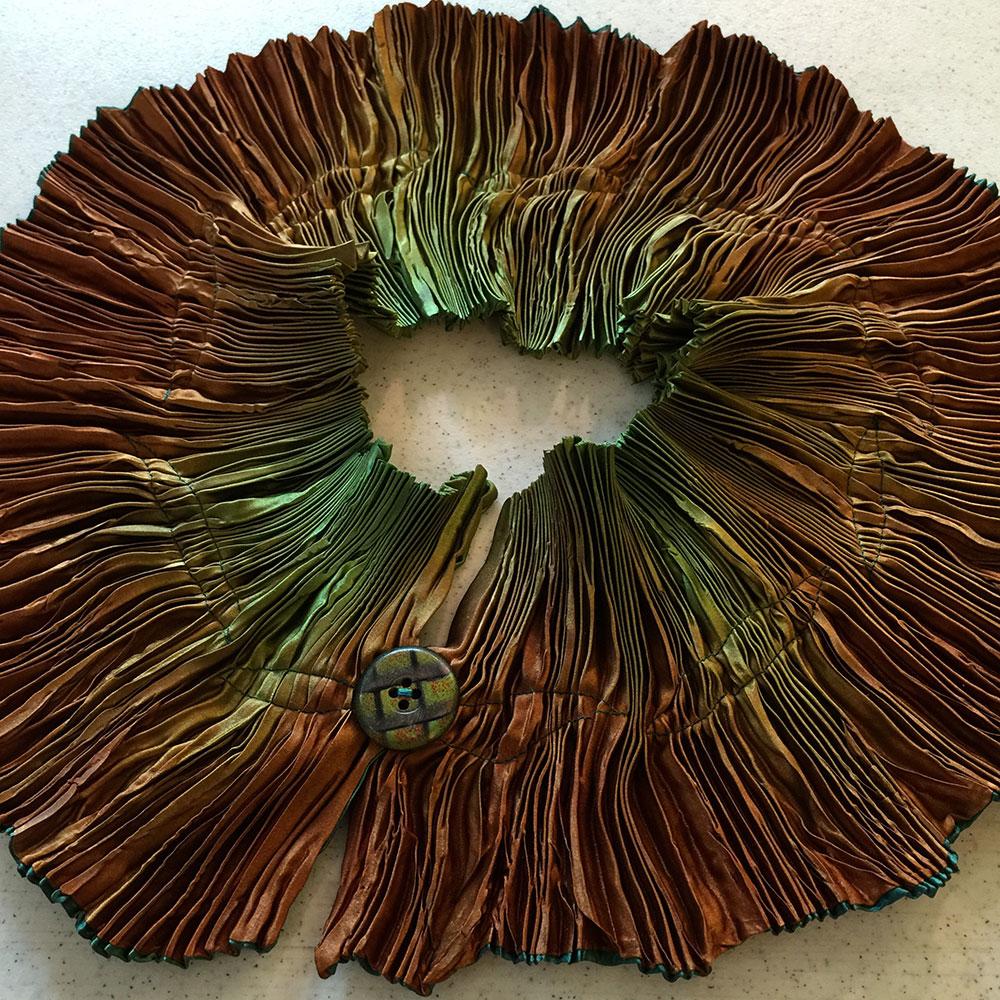 Ombré Dyed Silk Petal Scarf