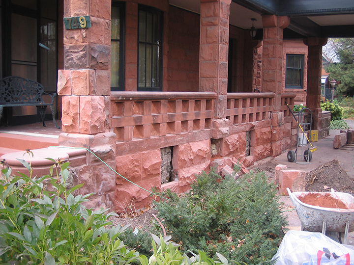 Knapp House Sandstone Restoration
