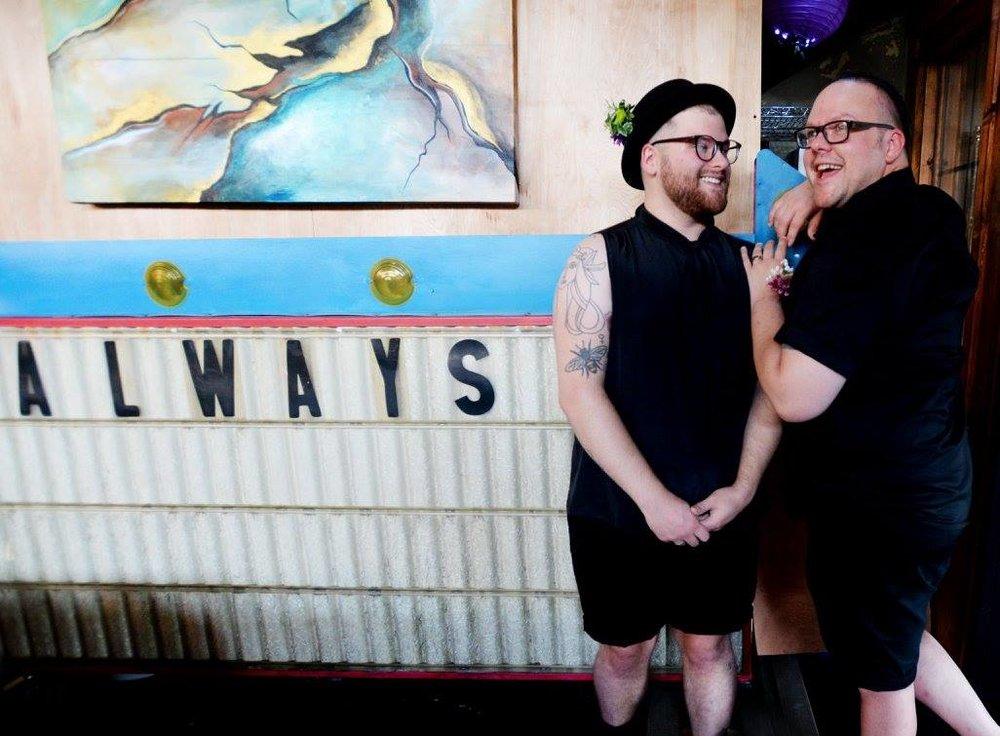 Photo by  Henrietta Wildsmith ; Evan (left) Derick (right)