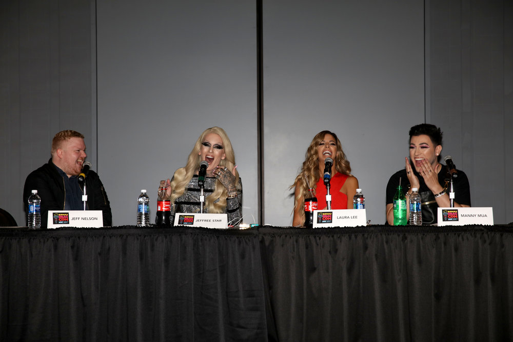 Jeff Nelson, Jeffree Star, Laura Lee and Manny MUA at RuPaul's DragCon NYC.JPG