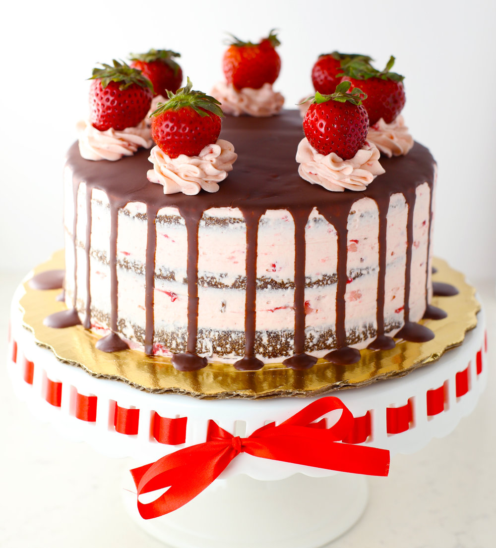 Chocolate Strawberry Cake by Chef Leandro