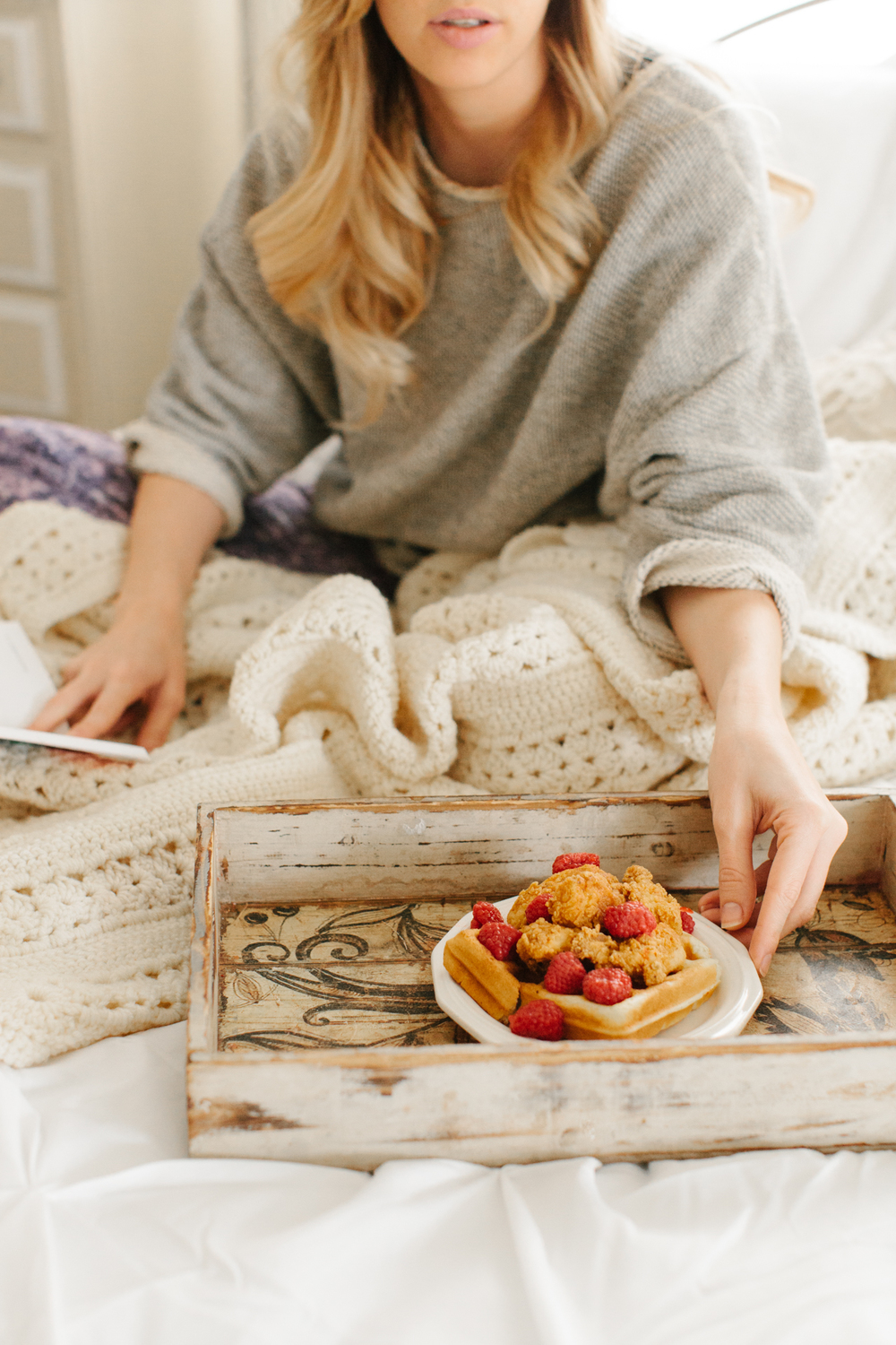 We don't suggest eating waffles in bed, but if you must...