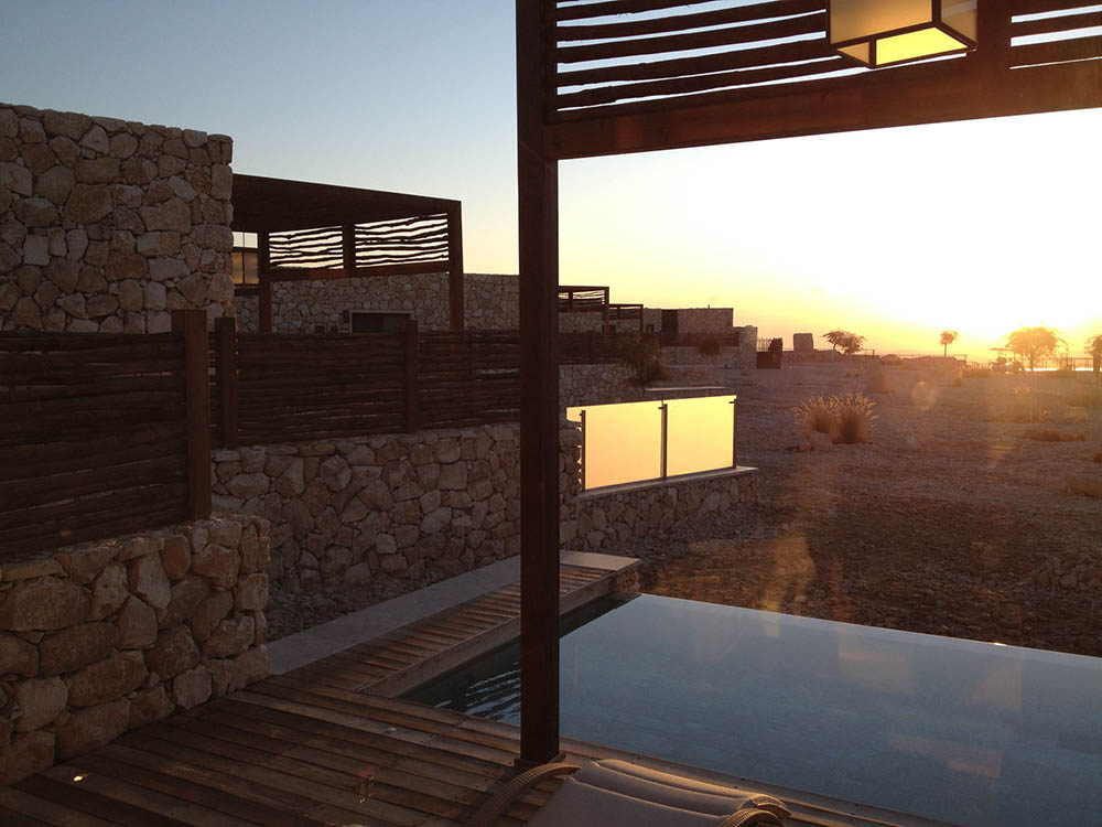 Sunrise at the Beresheet Hotel, overlooking the Makhtesh Ramon. Courtesy and © Cookie West