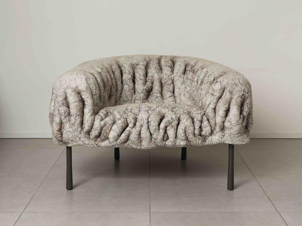 """Ayala Serfaty's """"Kuramura Armchair"""" courtesy of Maison Gerard, Robert Levin"""