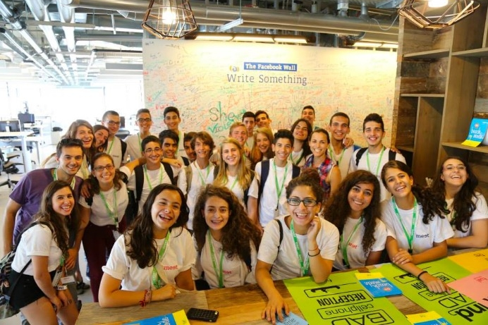 Jewish and Arab high-school students come together to participate in MEET. Photo courtesy MEET