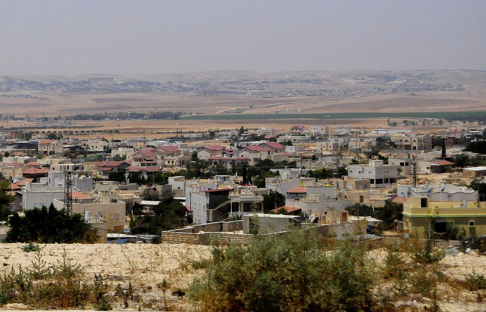The Bedouin village of Hura, where Muhammad al-Nabari has been the mayor since 2005. Photo by Romayan, courtesy  Creative Commons
