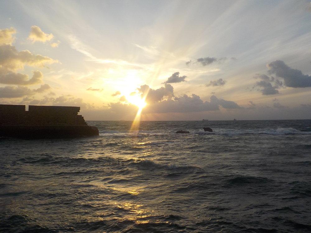 A magnificent Akko sunset
