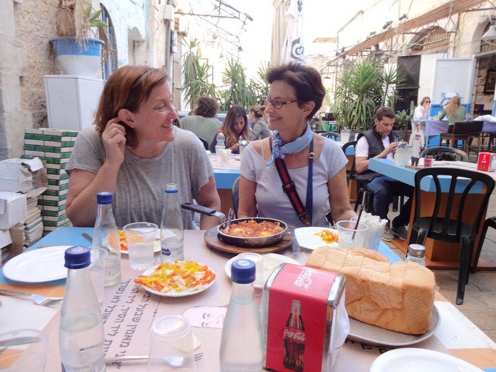 Diana C. Stoll and Jane Wooldridge   in Jaffa