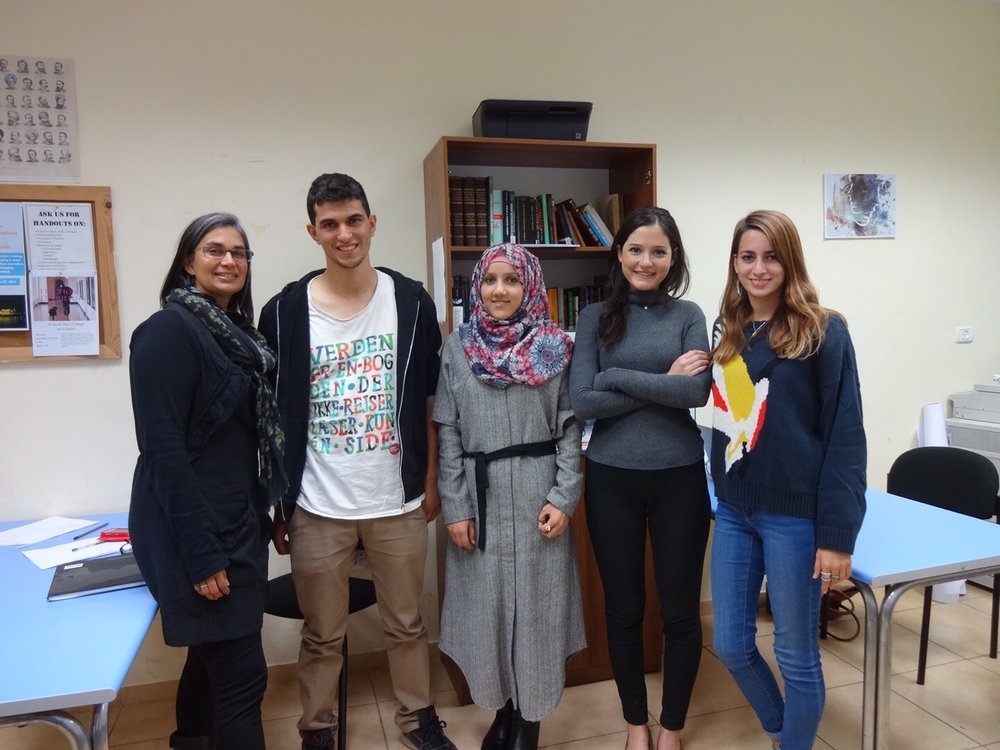 Rashed, Asma, Anne, and Asmera, Al Quds Bard Writing Fellows