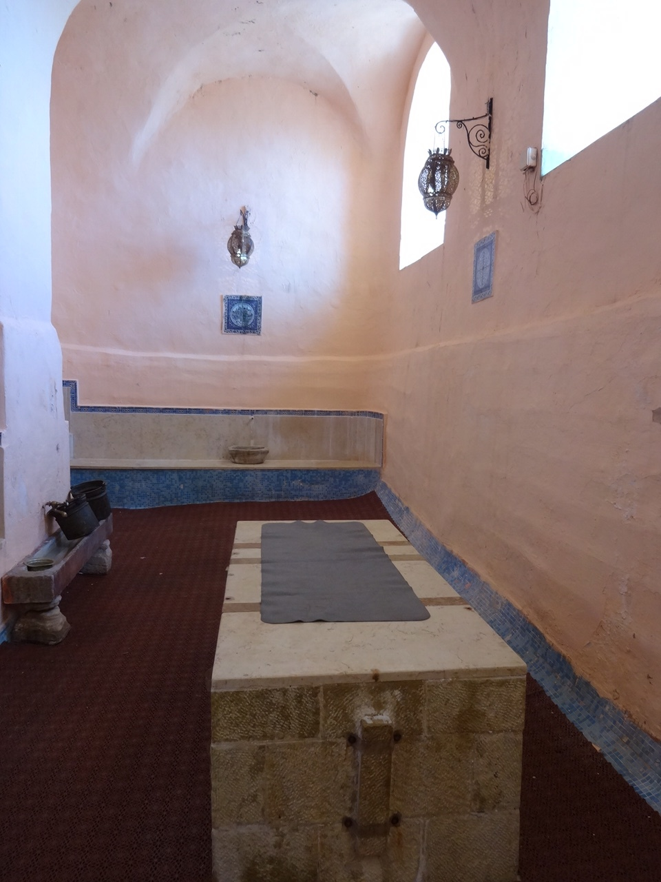 Steam bath in the Hamam