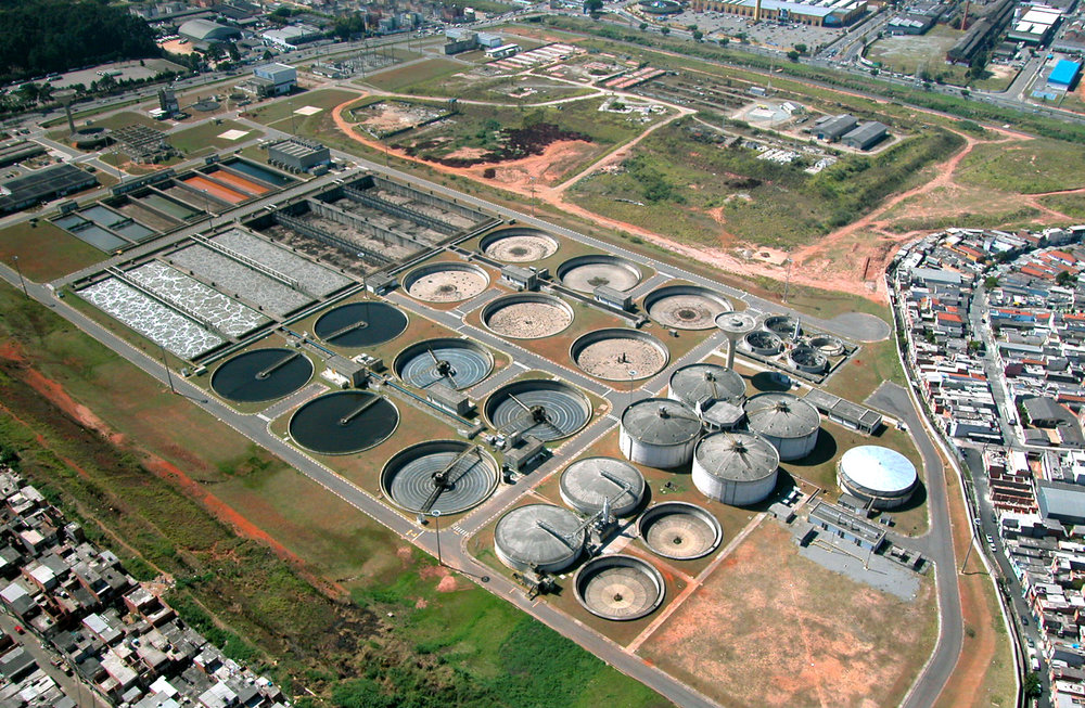 A sewage treatment plant in Brazil. Photo courtesy of Lodologic