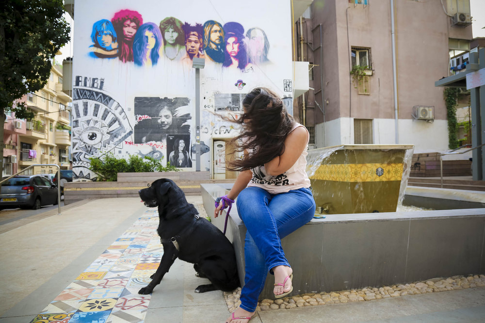 It's all about the dogs in Florentin. Photo by Guy Yechiely, Tel Aviv Municipality