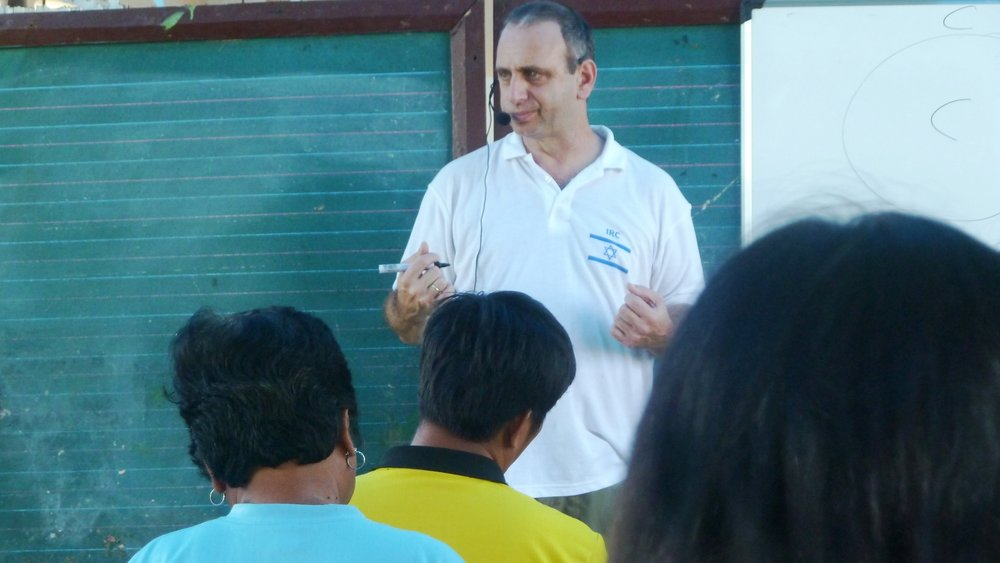 Moshe Farchi teaching his trauma-care model in the Philippines. Photo: courtesy