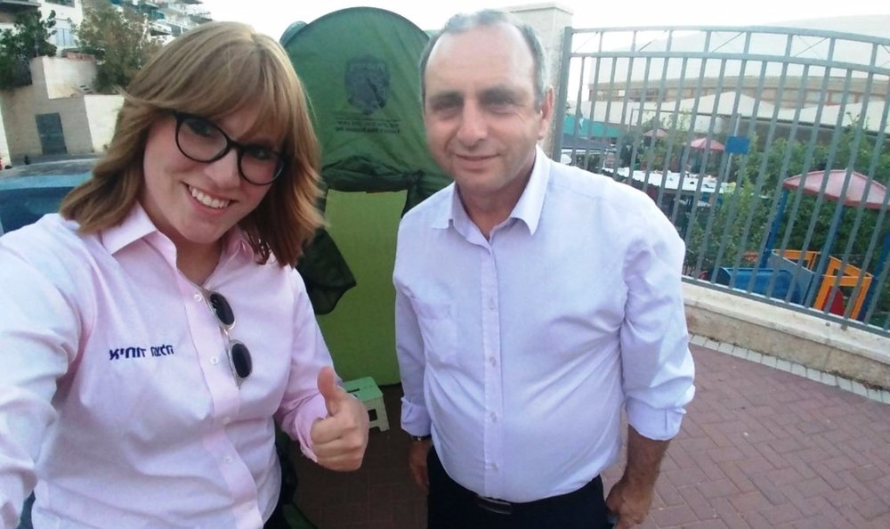 United Hatzalah psychotrauma team leader Miriam Ballin with Moshe Farchi. Photo: courtesy