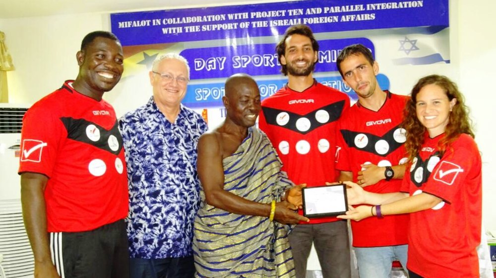 MASHAV and Mifalot did a workshop for soccer coaches in Liberia in 2017. Photo: courtesy ISRAEL21c