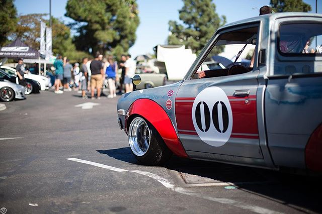 One of our favorites at Motor Union 5. Landon Brown's 1973 Datsun 620.  Please tag him  Photo: @xquesohueso
