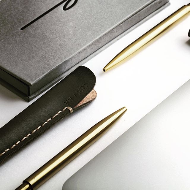 Your life need a ballpoint pen, and it's golden. . . . #ballpointpen #life #lifestyle #design #productdesign #brass #time #writing #companion #minimalism #simplicity