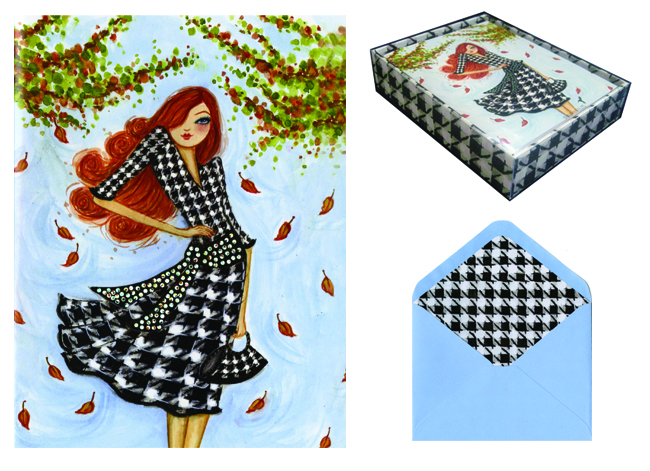 Houndstooth Cards