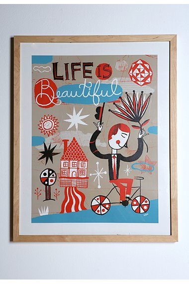 Nate Williams - Life Is Beautiful print