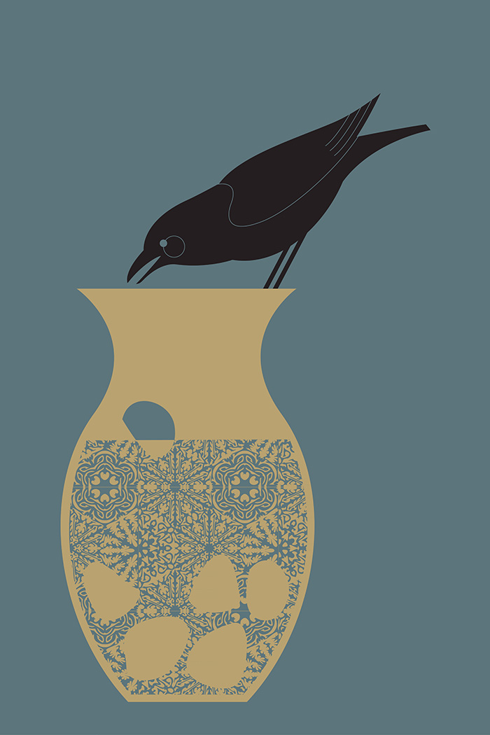 Crow and Vase